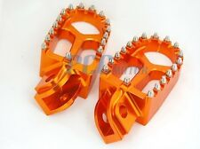 CNC RACING FOOTPEGS FOOTREST 1998-2012 KTM 65-990 Dirt Bike ORANGE H FP13