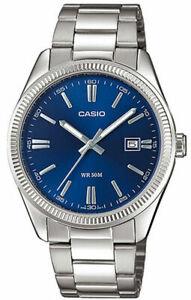 Armbanduhr Casio Herren MTP-1302PD-2AVEF Edelstahlarmband Schmuck ohne Krone
