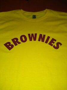 BROWNIES LADIES AND MENS SIZES T-SHIRT for hen party  RETRO fancy dress items