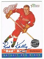 2000-01 TOPPS HERITAGE AUTOGRAPH #HA-RK RED KELLY !!