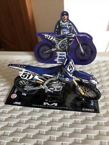 NEW Ray 1:12 YAMAHA YZF 450 Toy Model MOTOCROSS Dirt bike Justin Barcia