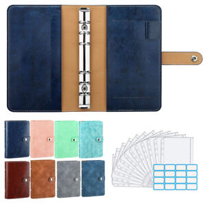 A6 PU Leather Folio PU Leather Loose-Leaf Notebook Folder Office School Supplies