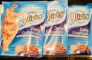 9Lives Dry Cat Food Daily Essentials 3 Bags In Total. Ass Seen In Pictures