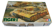 Tamiya Model 25401 1/35 WWII German Tiger I Late Ver Ace Commander & Crew Tank