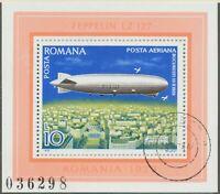 RUMÄNIEN 1979 VFU Block Luftschiffe Zeppelin LZ 127 über BUKAREST 16.10.1929