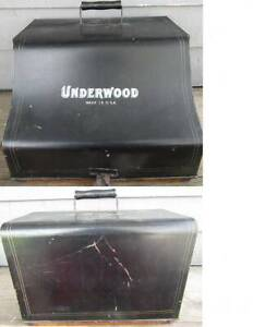 ANTIQUE UNDERWOOD No. 5 TYPEWRITER CARRYING CASE ONLY w/ WOOD BASE