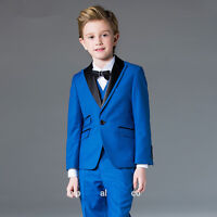Kid's 3 Piece Formal Wedding Groom Tuxedos Flower Boys Children Prom Party Suits