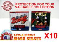 10x NINTENDO VIRTUAL BOY CIB GAME BOX - PROTECTIVE BOX PROTECTOR SLEEVE CASE