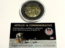 Exclusive NASA Apollo 16 Medallion Coin Token Contains Flown to Moon Metal
