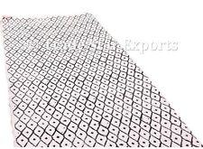 Indian Hand Block Print Dhurrie Rug Hand Loomed Carpet Rug Large Area Rug Runner