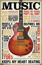 MUSIC INSPIRES ME Inspirational Wall Poster for Dorm Room, Studio, Classroom