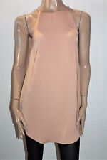AVA Designer Tan Sleeveless Shift Dress Size 8 BNWT #TG43