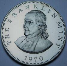Benjamin Franklin Centre Dévouement Preuve Médaillon 38.5mm ~ Neuve ~