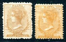 MALTA 1863 2A ungebraucht gezähnt 12 ½ in zwei Farben(S1698