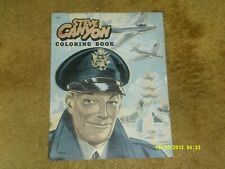 """Steve Canyon Coloring Book (Saalfield, 1952) 14 pp. Approx. 11"""" x 14"""" (Vg shape)"""