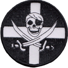 Cornwall County Flag With Pirate Embroidered Patch Badge