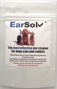 EarSolv Dog Ear Cleaner For Dog Ear Wax In Dogs Cats and Rabbits (Sachet)