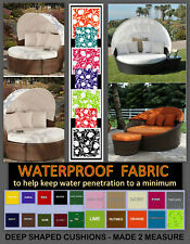 MADE TO MEASURE SERVICE FOR SHAPED WATERPROOF CUSHIONS - RATTAN GARDEN FURNITURE