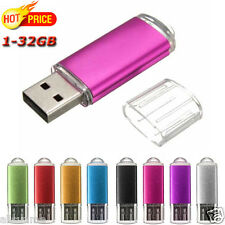 1-32GB USB Exquisito Mini Metal Flash Memory Stick Almacenamiento Thumb U Disk#R