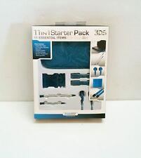 NEUF bleu 11 en 1 Kit pour vieux 3DS Pochette de transport stylet écouteurs