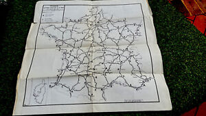 France Etapes-Camping A.I.T. 1955 Map and Index-Cette Edition-Original-In Aust.