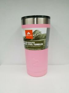 OZARK TRAIL  PINK POWDER COATED 20oz STAINLESS STEEL TUMBLER NEW COLOR 2019
