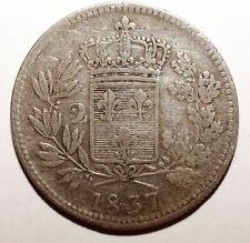 2 Lira Italia Debido Sicilia plata raro 1837 (W 050)