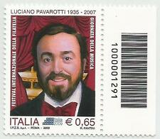 REPUBBLICA ITALIANA - 2009 Luciano Pavarotti con codice a barre 1291