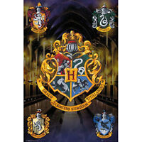 Harry Potter Crests POSTER 61x91cm NEW Gryffindor Slytherin Hufflepuff Ravenclaw