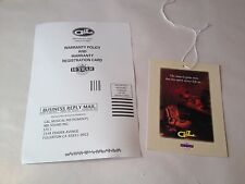 G&L Electric Guitar Case Candy Warranty Card Hang Tag ASAT Legacy Comanche