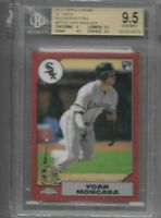 YOAN MONCADA 2017 TOPPS CHROME 87 RED REFRACTOR /5 BGS 9.5 GEM MINT