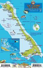 Cat Island Bahamas Dive Map & Reef Creatures Laminated Fish Card Franko Maps