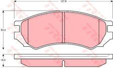 Conjunto de guarnición freno de disco trw gdb1005 delantero para nissan primera p10 hatchback