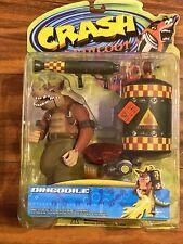 1998 Crash Bandicoot Dingodile OLD STOCK New in Package Resaurus