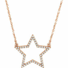 Diamante Estrella 40.6cm Collar en 14k oro rosa ( 1/4 Ct. TW