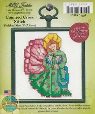 Cross Stitch Mini Kit ~ M.C.G. Angel w/Frame #15375