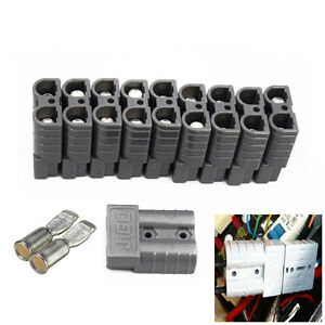 10PCS/set Battery Quick Connector Kit 50A 6AWG Connect Disconnect Winch Trailer