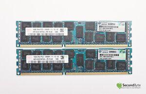 HP Hynix 32GB (2 x 16GB) PC3-12800R DDR3-1600MHz Server Memory 672612-081
