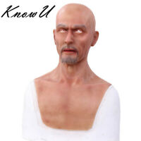 Charles Party Silicone Realistic Headgear Full Head Masquerade Male Props