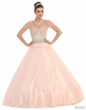 SWEETHEART QUINCEANERA DRESSES BEADED BODICE BALL GOWN PROM FORMAL CORSET BACK