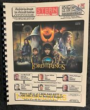 STERN PINBALL LORD OF THE RINGS MANUAL NEW WITH FLEXIBLE BINDER STRIP