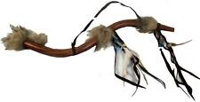 More details for fair trade feather peace pipe hand carved replica native american indian wing