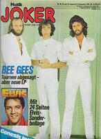 Musik Joker Nr.18 vom 21.8.1978 mit Sonderheft Elvis Presley, Bee Gees, Genesis
