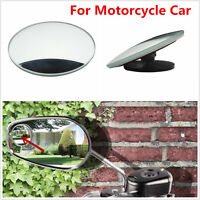 """2"""" Round Stick On Rear-view Blind Spot Convex Wide Angle Mirrors For Motorcycle"""