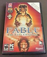 Fable The Lost Chapters PC MS Windows 2005 Complete w/ Key Retail Box & Manual