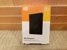 Western Digital My Passport 2TB Portable Hard Drive (WDBYVG0020BBK-WESN) NEW