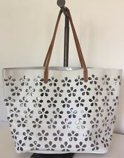 Furla Leather Hand Bag Tote White Made in Italy