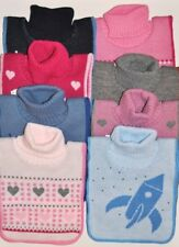 neck warmer chest warmer golfik for kids children 3-7 knitted and fleeced top Q