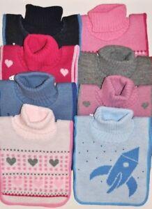 neck warmer chest warmer golfik for kids children 3-7 knitted and fleeced top Q