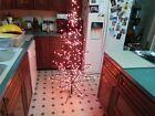 Rare Large Spirit Halloween Black Metal Tree Pre-lit With Orange Lights 5 Ft.